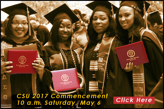 link to Commencement page, CSU Commencement 10 a.m. Saturday, May 6, Click Here