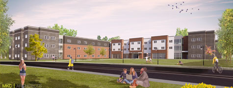 Rendering of the new residence hall