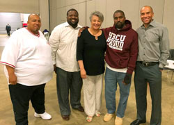 photo of Ramon Key, Carlos Brown, Dr. Cynthia Jackson-Hammond, Kanye West, Jahan Culbreath. Photo: Jahan Culbreath