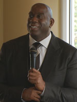 photo of Magic Johnson on October 12, 2018