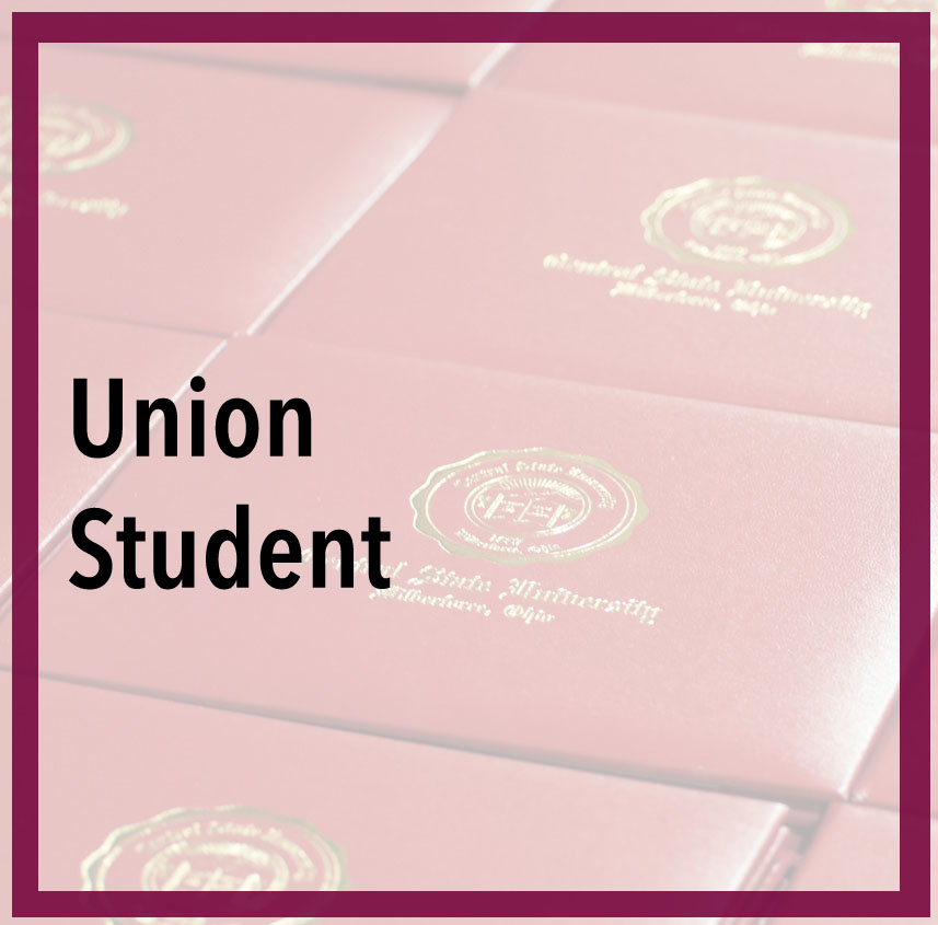 link to Ellucian login page for beginning Union Low Cost Bachelor's Degree Program, Are you a using your union plus education benefit? If so, please click here to complete the union plus applicationphoto of CSU diplomas at the 2017 Commencement.