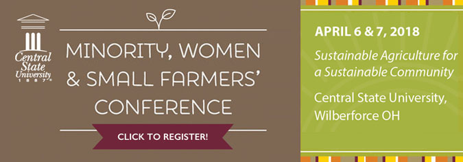 Minority, Women's & Small Farmer's conference, 2nd annual, Friday, April 7, 3–7 p.m., Saturday, April 8, 8 a.m. –4 p.m.