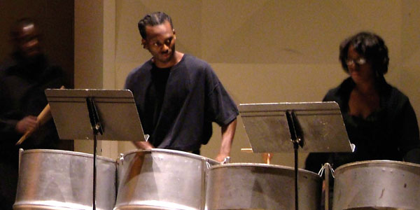 photos from campus - steel drums performance
