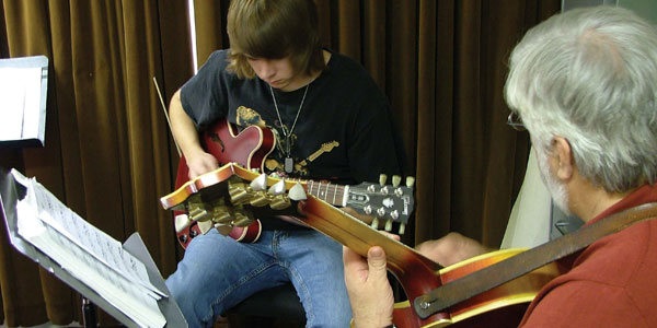photos from campus - guitar lesson