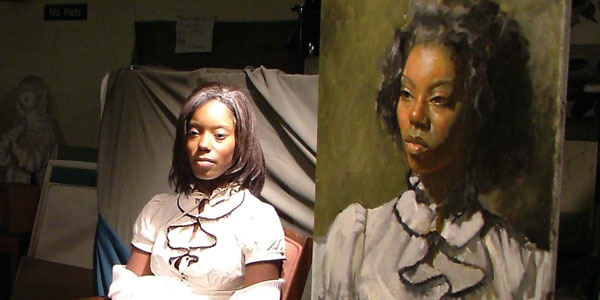 photos from campus - portrait painting