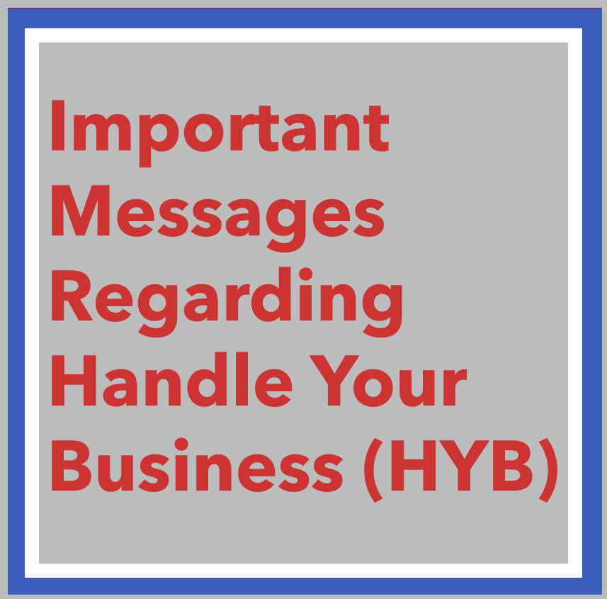link to Important Messages Regarding Handle Your Business (HYB) page, photo of CSU diplomas at the 2017 Commencement.