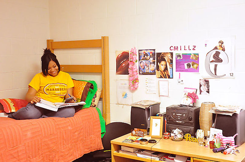 photos from Orientation includes dorm rooms, campus buildings and facilities, and students.
