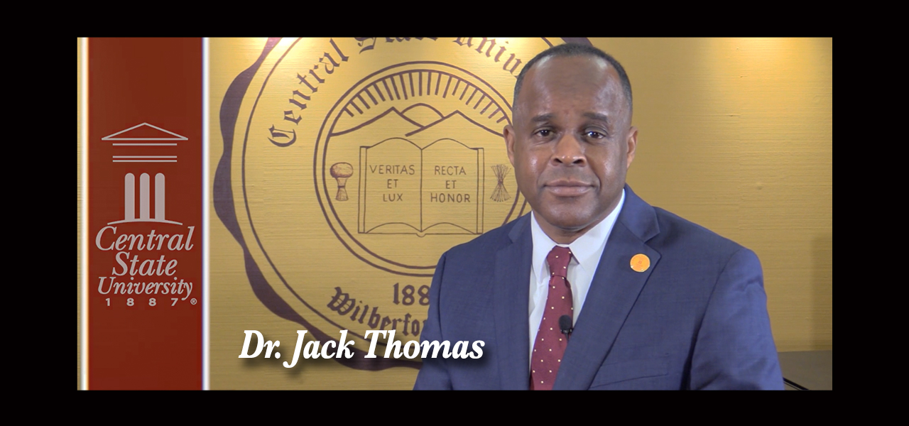 link to central state university president covid message
