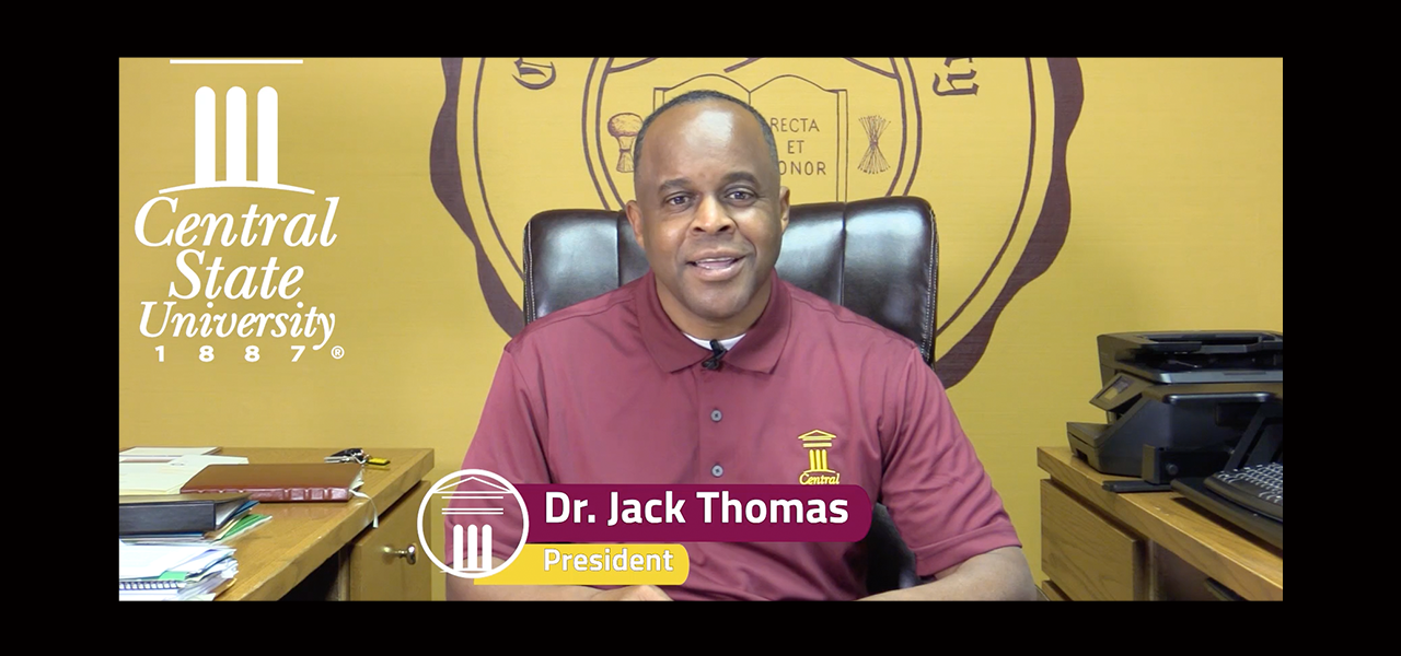 link to central state university president message