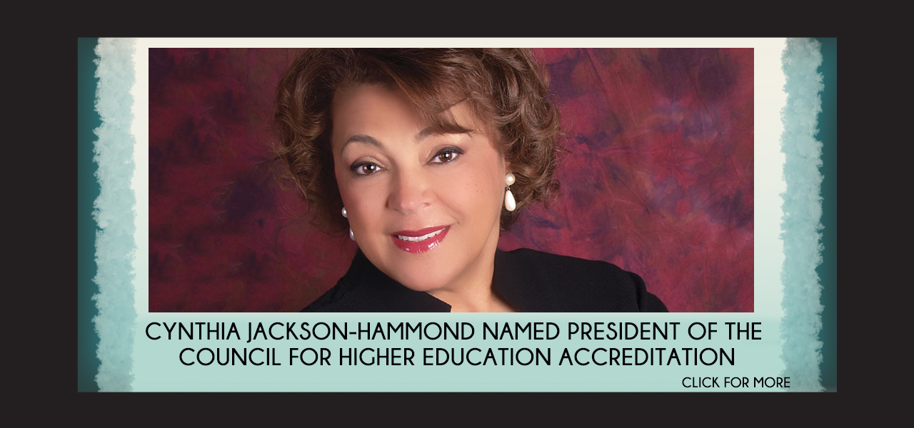 link to CHEA page, Cynthia Jackson-Hammond Named President of the Council for Higher Education Accreditation