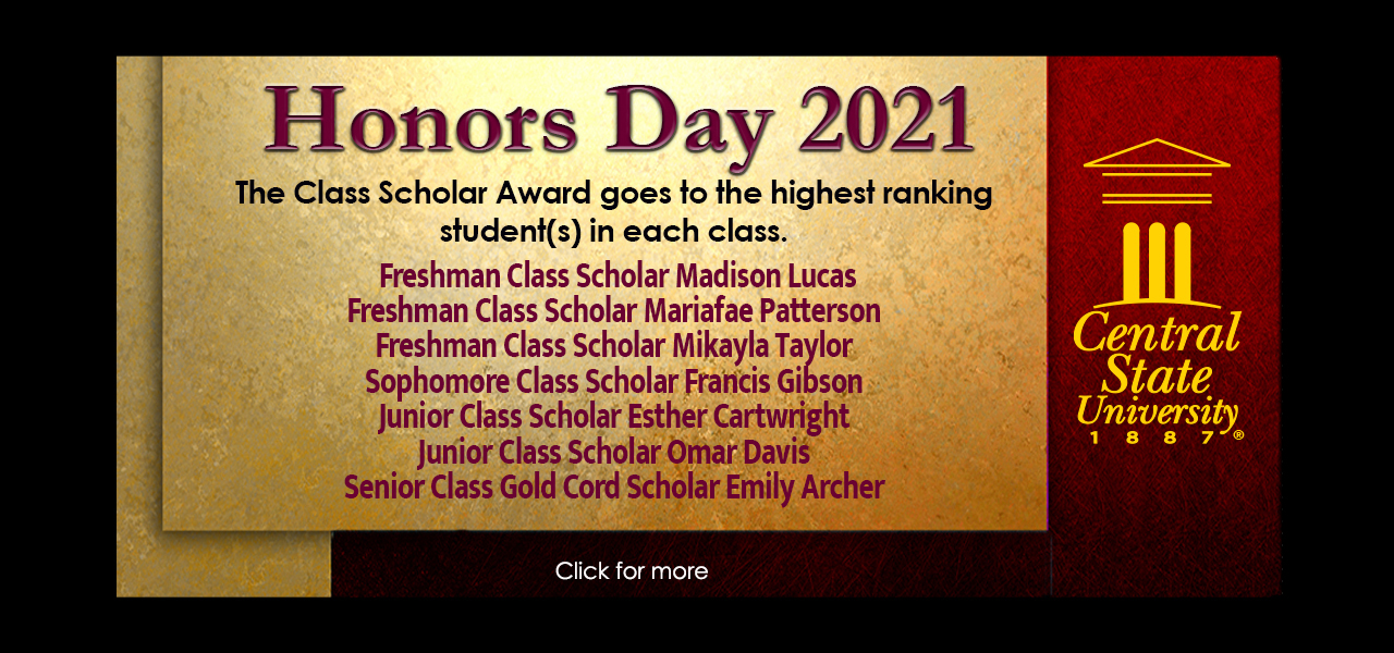 Honors day scholars