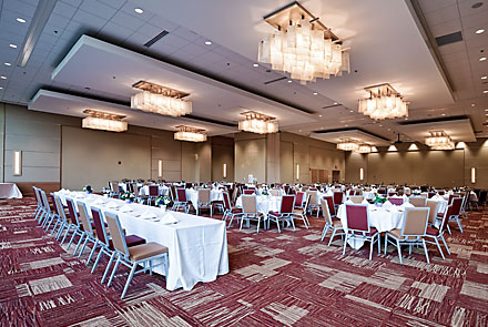 Interior view of the Central State University Ball Room in Wilberforce, Ohio