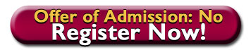 link to Marauder Jumpstart registration page for those who do not yet have an offer of admission, Offer of Admission: NO Register Now!