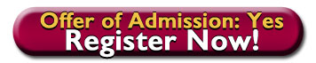 link to Marauder Jumpstart registration page for those who have an offer of admission, Offer of Admission: YES Register Now!